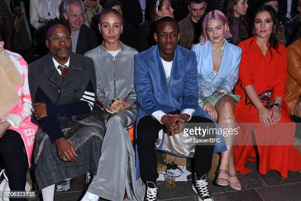Billy Porter Adwoa Aboah Micheal Ward AnneMarie and Jessie Ware attend the Central Saint Martins show during London Fashion Week February 2020 on...
