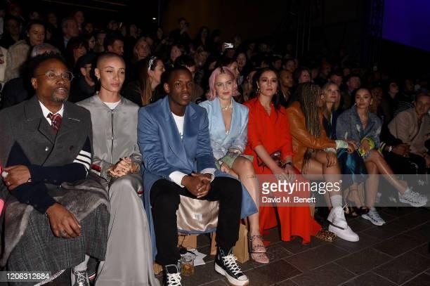 Billy Porter Adwoa Aboah Micheal Ward AnneMarie Jessie Ware Mahalia Burkmar Laura Whitmore and Ella Eyre attend the Central Saint Martins MA Fashion...