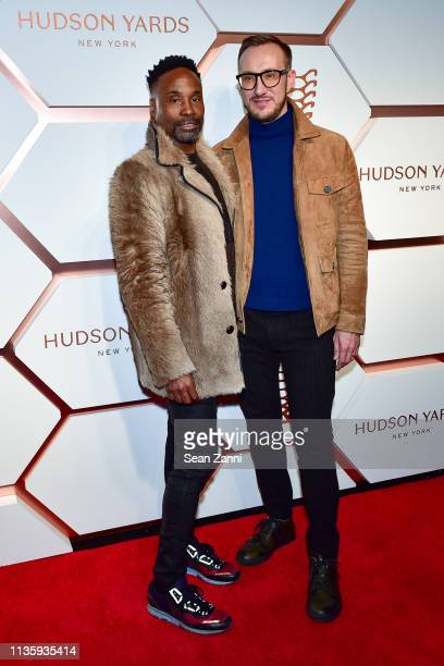 Billy Porter and Adam Porter Smith attend the Hudson Yards Grand Opening Party at Hudson Yards on March 14 2019 in New York City