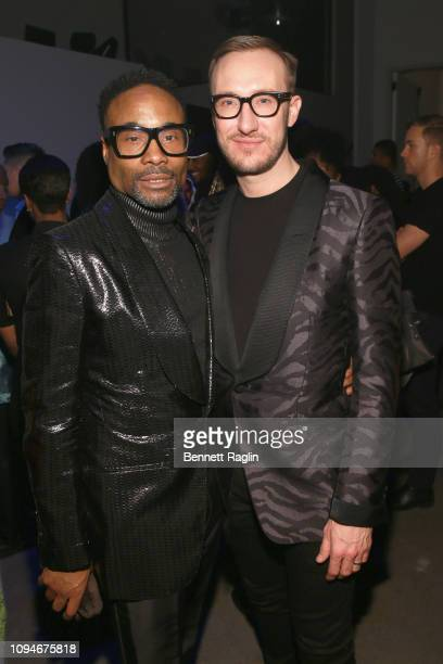 Billy Porter and Adam PorterSmith attend IMG And Harlem Fashion Row Host 'Next Of Kin' An Evening Honoring Ruth E Carter at Spring Studios on...
