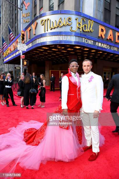 Billy Porter and Adam PorterSmith attend the 73rd Annual Tony Awards at Radio City Music Hall on June 09 2019 in New York City