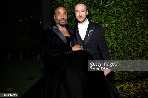 Billy Porter and Adam PorterSmith prepare for the afterparties after the 91st Academy Awards at Lowes Hollywood Hotel on February 24 2019 in...