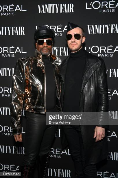 Billy Porter and Adam Smith are seen as Vanity Fair and L'Oréal Paris Celebrate New Hollywood on February 19 2019 in Los Angeles California