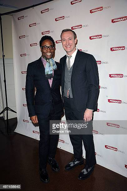 Billy Porter and Adam Smith attend 2015 Primary Stages Gala at 583 Park Avenue on November 16 2015 in New York City