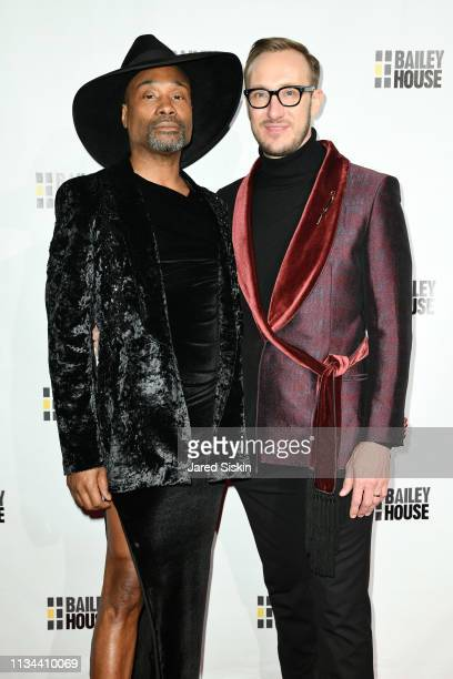 Billy Porter and Adam Smith attend 2019 Bailey House Gala Auction at Pier 60 Chelsea Piers on March 07 2019 in New York City