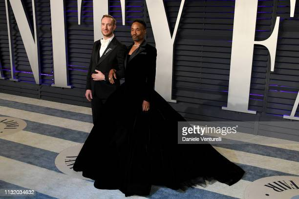 Billy Porter and Adam Smith attend 2019 Vanity Fair Oscar Party Hosted By Radhika Jones Arrivals at Wallis Annenberg Center for the Performing Arts...