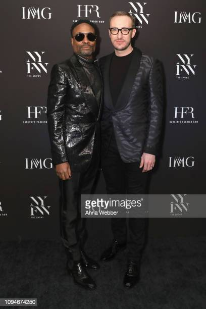 Billy Porter and Adam Smith attend IMG and Harlem Fashion Row Host 'Next Of Kin' An Evening Honoring Ruth E Carter at Spring Studios on February 6...