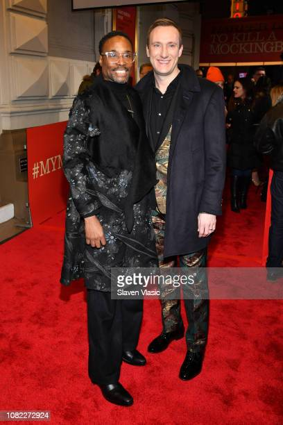 Billy Porter and Adam Smith attend opening night of To Kill A Mocking Bird at the Shubert Theatre on December 13 2018 in New York City