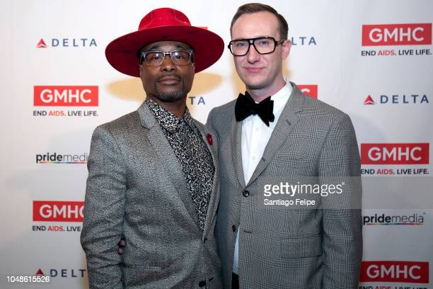Billy Porter and Adam Smith attend the 2018 Gay Men's Health Crisis Annual Gala at The Plaza Hotel on October 9 2018 in New York City
