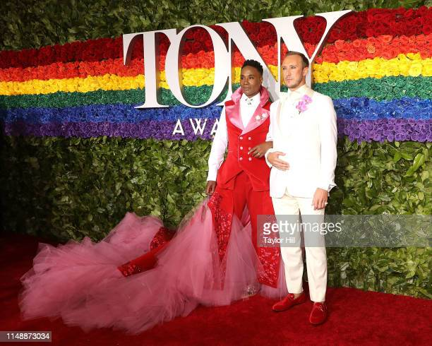 Billy Porter and Adam Smith attend the 2019 Tony Awards at Radio City Music Hall on June 9 2019 in New York City
