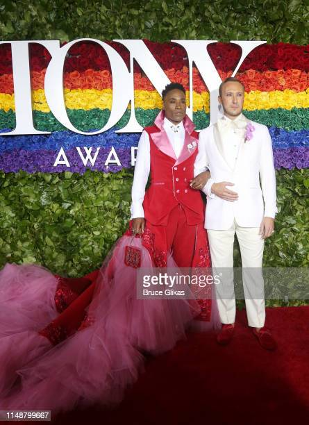 Billy Porter and Adam Smith attend the 73rd Annual Tony Awards at Radio City Music Hall on June 9 2019 in New York City