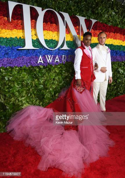 Billy Porter and Adam Smith attend the 73rd Annual Tony Awards at Radio City Music Hall on June 09 2019 in New York City