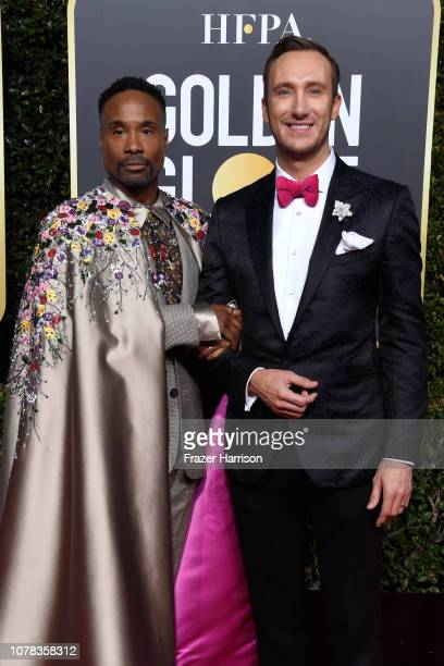 Billy Porter and Adam Smith attend the 76th Annual Golden Globe Awards at The Beverly Hilton Hotel on January 6 2019 in Beverly Hills California