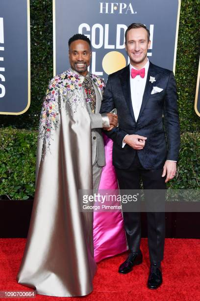 Billy Porter and Adam Smith attend the 76th Annual Golden Globe Awards held at The Beverly Hilton Hotel on January 06 2019 in Beverly Hills California