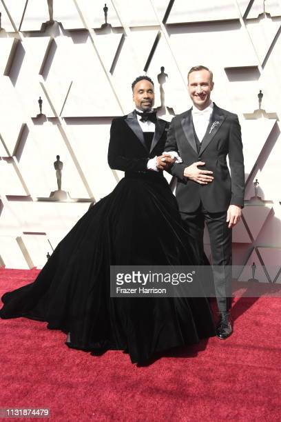 Billy Porter and Adam Smith attend the 91st Annual Academy Awards at Hollywood and Highland on February 24 2019 in Hollywood California