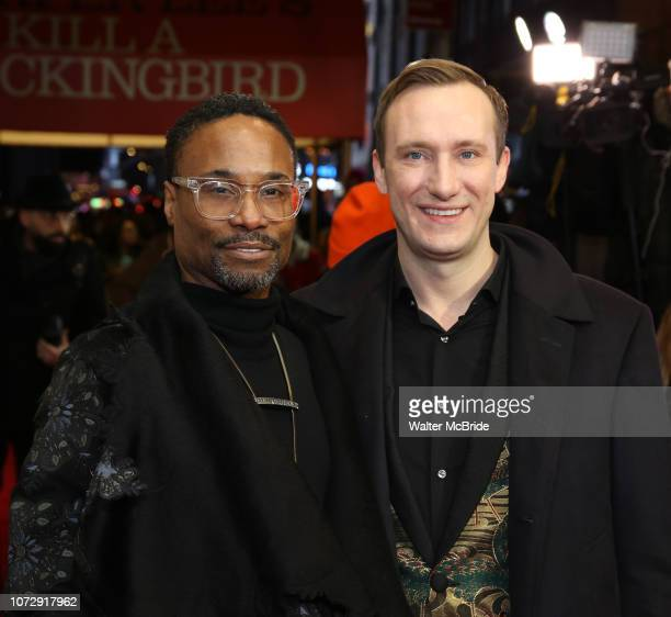 Billy Porter and Adam Smith attend the Broadway Opening Night Performance of To Kill A Mockingbird on December 13 2018 at The Shubert Theatre in New...