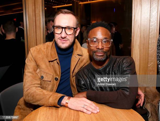 Billy Porter and Adam Smith attend The Shops Restaurants at Hudson Yards Preview Celebration – Milos Private Party on March 14 2019 in New York City
