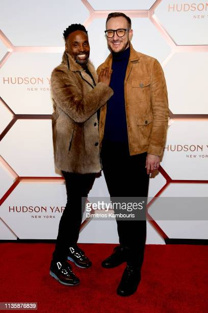 Billy Porter and Adam Smith attend The Shops Restaurants at Hudson Yards Preview Celebration – Red Carpet Arrivals on March 14 2019 in New York City