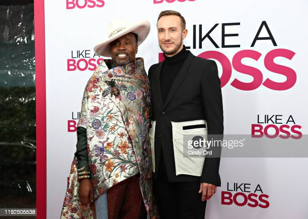 Billy Porter and Adam Smith attend the world premiere of Like A Boss at SVA Theater on January 07 2020 in New York City
