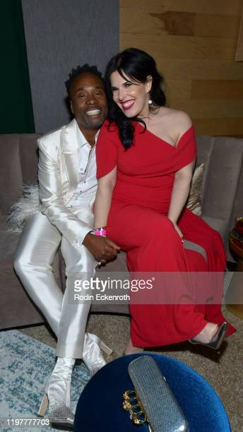Billy Porter and Alexis Martin attend The Walt Disney Company 2020 Golden Globe Awards PostShow Celebration at The Beverly Hilton Hotel on January 05...