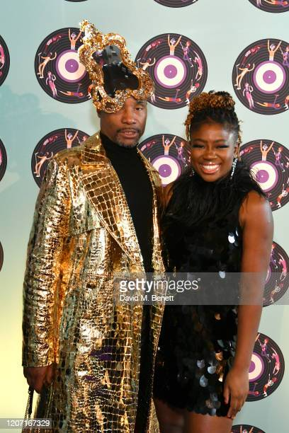 Billy Porter and Clara Amfo attend the Universal Music BRIT Awards afterparty 2020 hosted by Soho House PATRÓN at The Ned on February 18 2020 in...