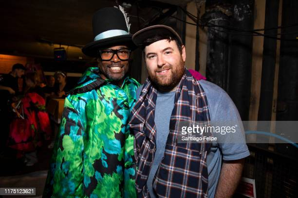 Billy Porter and designer Richard Quinn pose for photos backstage after 'Richard Quinn S/S 2020' fashion show during London Fashion Week September...