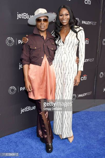 Billy Porter and Dominique Jackson attend The Paley Center For Media's 2019 PaleyFest LA Pose at Dolby Theatre on March 23 2019 in Hollywood...