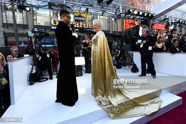 Billy Porter and Glenn Close attend the 91st Annual Academy Awards at Hollywood and Highland on February 24 2019 in Hollywood California