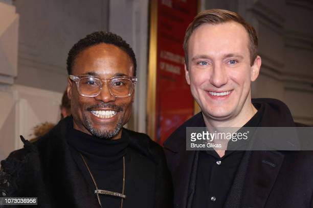 Billy Porter and husband Adam Porter Smith pose at the opening night of the hit play To Kill a Mockingbird on Broadway at The Shubert Theatre on...
