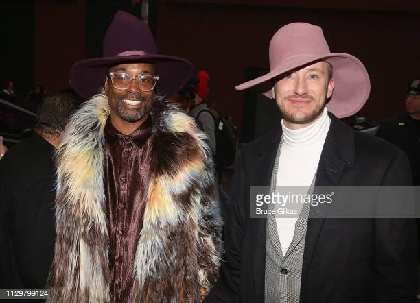 Billy Porter and husband Adam Porter Smith pose at the opening night of the new hit musical Be More Chill on Broadway at The Lyceum Theatre on March...