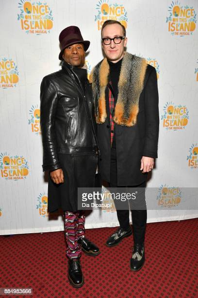 Billy Porter and husband Adam Smith attend the 'Once On This Island' Broadway Opening Night at Circle in the Square Theatre on December 3 2017 in New...