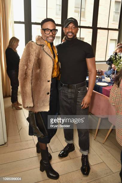 Billy Porter and LaQuan Smith attend a lunch for the Front Five Presented by E at NYFW The Shows during New York Fashion Week at Spring Studios on...