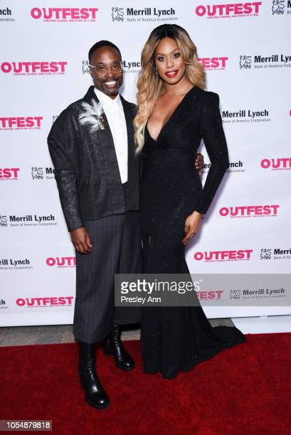 Billy Porter and Laverne Cox attend 13th Annual Outfest Legacy Awards at Vibiana on October 28 2018 in Los Angeles California