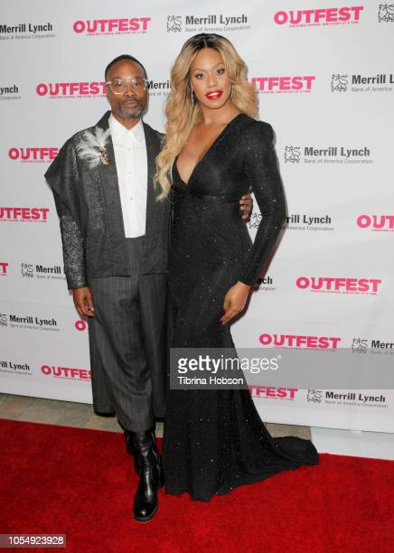 Billy Porter and Laverne Cox attend the 13th annual Outfest Legacy Awards at Vibiana on October 28 2018 in Los Angeles California
