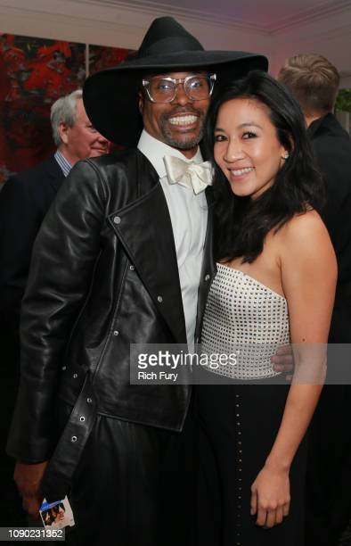 Billy Porter and Michelle Kwan attend the 6th Annual Gold Meets Golden at The House on Sunset on January 05 2019 in Beverly Hills California