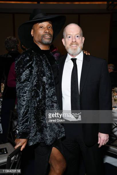Billy Porter and Paul Reitz attend 2019 Bailey House Gala Auction at Pier 60 Chelsea Piers on March 07 2019 in New York City