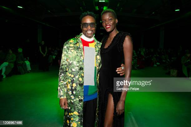 Billy Porter and Sheila Atim attend 'Christopher Kane' fashion show during London Fashion Week February 2020 on February 17 2020 in London England