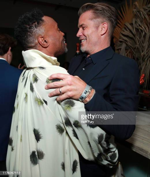 Billy Porter and Timothy Olyphant attend Vanity Fair and FX's annual Primetime Emmy Nominations Party on September 21, 2019 in Century City,...