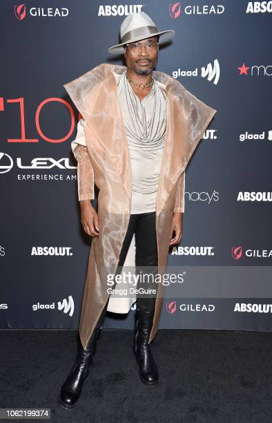 Billy Porter arrives at Out Magazine's OUT100 Awards Celebration Presented By Lexus at Quixote Studios on November 15 2018 in Los Angeles California