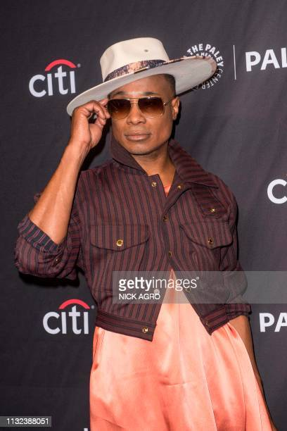 Billy Porter arrives for Paley Center for Media's 2019 PaleyFest LA panel and screening of 'Pose' on March 23 2019 at the Dolby Theater in Hollywood