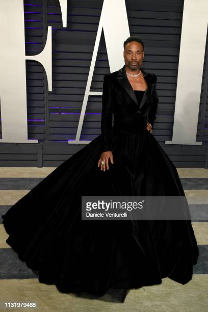 Billy Porter attends 2019 Vanity Fair Oscar Party Hosted By Radhika Jones Arrivals at Wallis Annenberg Center for the Performing Arts on February 24...