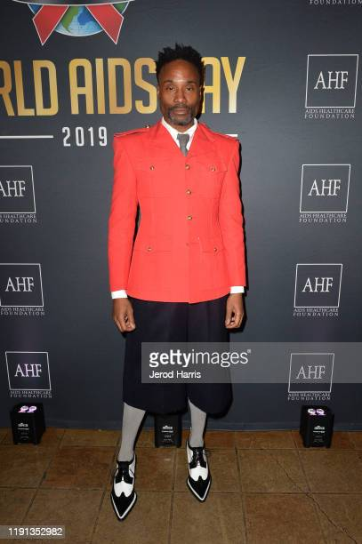 Billy Porter attends AHF's free World AIDS Day 2019 concert hosted by Primetime Emmyaward winner Billy Porter at the historic Wilshire Ebell Theatre...