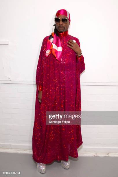 Billy Porter attends 'Ashish' fashion show during London Fashion Week February 2020 on February 17, 2020 in London, England.