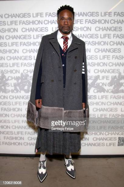 Billy Porter attends 'Central Saint Martins' fashion show during London Fashion Week February 2020 on February 14, 2020 in London, England.