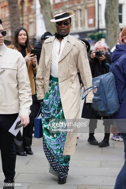 Billy Porter attends Erdem at National Portrait Gallery during LFW February 2020 on February 17 2020 in London England