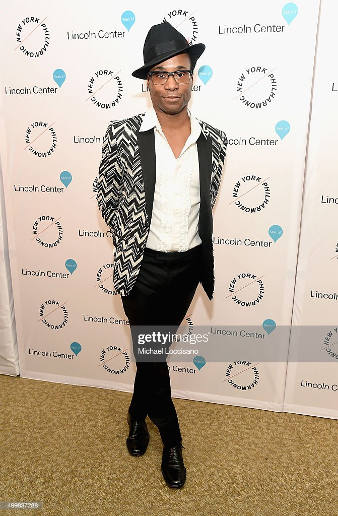 Billy Porter attends Sinatra Voice for A Century Event at David Geffen Hall on December 3, 2015 in New York City.