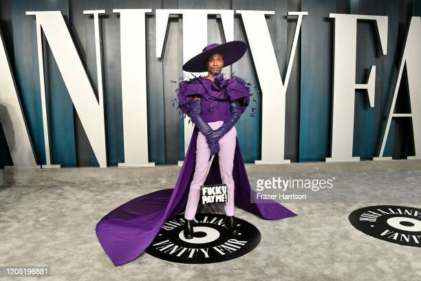 Billy Porter attends the 2020 Vanity Fair Oscar Party hosted by Radhika Jones at Wallis Annenberg Center for the Performing Arts on February 09 2020...