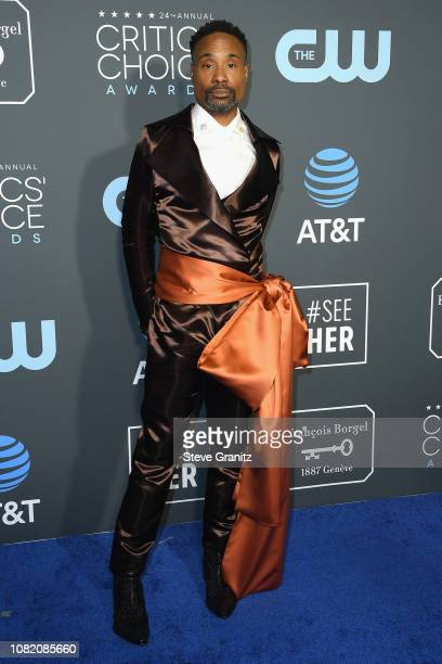 Billy Porter attends the 24th annual Critics' Choice Awards at Barker Hangar on January 13 2019 in Santa Monica California