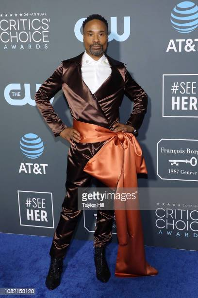 Billy Porter attends The 24th Annual Critics' Choice Awards at Barker Hangar on January 13 2019 in Santa Monica California