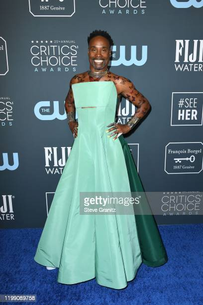 Billy Porter attends the 25th Annual Critics' Choice Awards at Barker Hangar on January 12 2020 in Santa Monica California